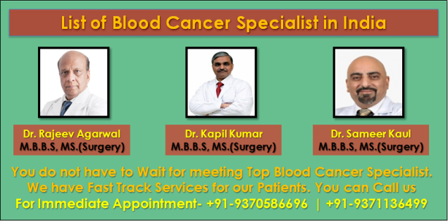 List of Blood Cancer Specialist in India