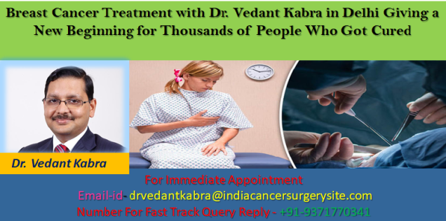 Breast Cancer Treatment with Dr. Vedant Kabra in Delhi Giving a New Beginning for Thousands of People Who Got Cured