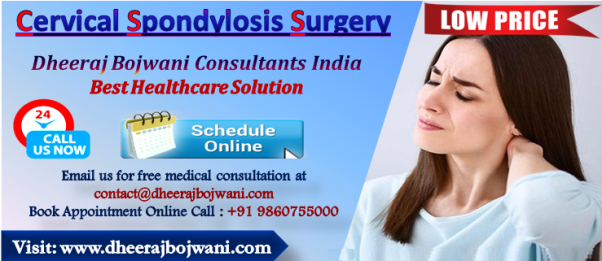 Cervical spondylosis surgery cost in India